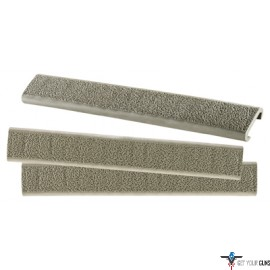 ERGO GRIP RAIL COVER SLIM LINE PICATINNY OD GREEN 3PK
