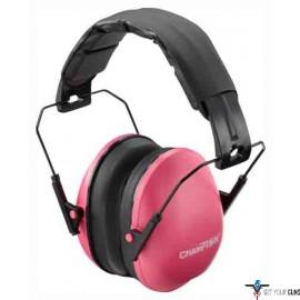 CHAMPION SLIM EAR MUFFS PASSIVE 21DB PINK