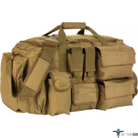RED ROCK OPERATIONS DUFFLE BAG 7 EXTERNAL UTILITY POUCHES TAN
