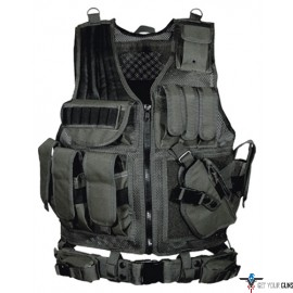 UTG TACTICAL VEST V547 BLACK LAW ENFORCEMENT