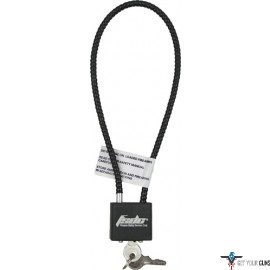 "FSDC CABLE LOCK 15"" COATED 1-PK W/2 KEYS CA DOJ APPROVED"