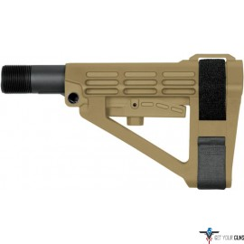 SB TACTICAL BRACE SBA4 FDE INCLUDES MIL-SPEC BUFFER TUBE