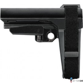 SB TACTICAL BRACE SBA3 BLACK INCLUDES MIL-SPEC BUFFER TUBE