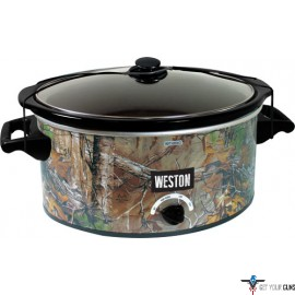 WESTON REALTREE OUTFITTERS 8QT CAMO SLOW COOKER BY WESTON