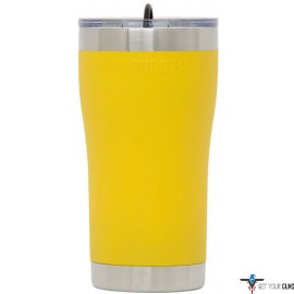 MAMMOTH 20 OZ SS YELLOW TUMBLER W/LID & RUBBER STOPPER
