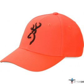 BG CAP SAFETY ORANGE WITH 3-D BUCK MARK LOGO ADJUSTABLE