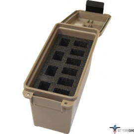 MTM TACTICAL MAGAZINE CAN DARK EARTH HOLDS 10 DS HANDGUN MAGS