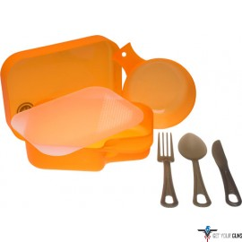 UST PACKWARE MESS KIT W/ MEAL ESSENTIALS ORANGE