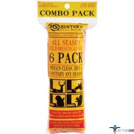 HS FIELD DRESSING GLOVES 6 PACK COMBO SHOULDER/WRIST