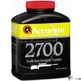 ACCURATE 2700 POWDER 1 LB. CANNISTER