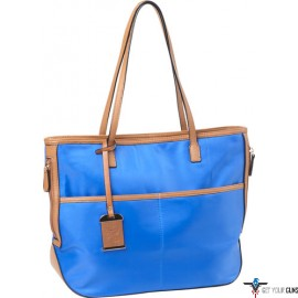 BULLDOG CONCEALED CARRY PURSE TOTE STYLE NYLON ELECTRIC BLUE