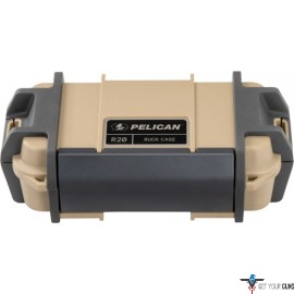 "PELICAN RUCK CASE MEDIUM R20 W/DIVIDER TAN ID 7.1""X3.4""X2"""