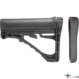 TACSTAR COLLAPSABLE STOCK AR15 FOR MIL-SPEC TUBE BLACK POLY