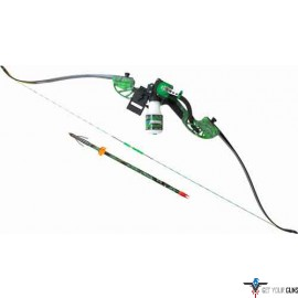 AMS BOWFISHING COMPLETE BOW KIT WATER MOC RECURVE GREEN RH