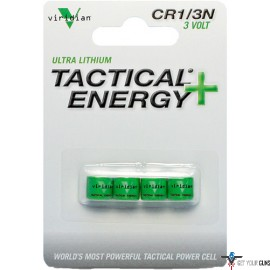 VIRIDIAN LITHIUM BATTERY 1/3N 4-PACK FITS REACTOR