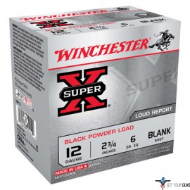 "WIN BLANKS 12GA. 2 3/4"" BLACK POWDER BLANKS 25-PACK"