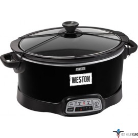 WESTON SLOW COOKER 7 QUART PROGRAMMABLE W/LID & LATCH STP