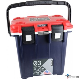PELICAN COOLERS IM 20 QUART ELITE RED/WHITE/BLUE-BODY BLUE