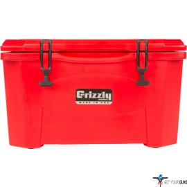 GRIZZLY COOLERS GRIZZLY G40 RED/RED 40 QUART COOLER