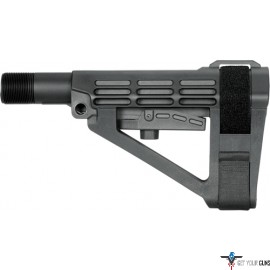SB TACTICAL BRACE SBA4 BLACK INCLUDES MIL-SPEC BUFFER TUBE