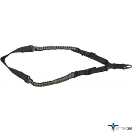 TOC TACTICAL PARACORD SLING SINGLE POINT BLACK/GREEN