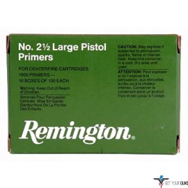 REM PRIMERS-LARGE PISTOL 5000-PK (5EA.-1000 PACKS)