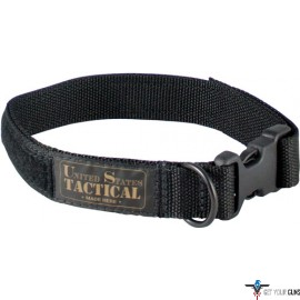 "US TACTICAL K9 COLLAR QUICK RELEASE BUCKLE LARGE 21"" BLACK"