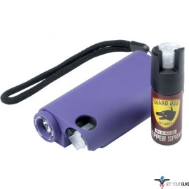 GUARD DOG OLYMPIAN 3-IN-1 PURP STUN GUN/LIGHT/PEPPER SPRAY