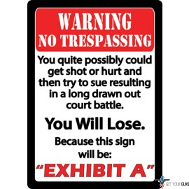 """RIVERS EDGE EMBOSSED SIGN 12""""X17"""" """"EXHIBIT A"""""""