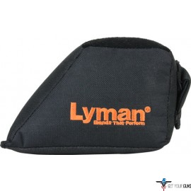 LYMAN WEDGE REAR SHOOTING BAG FILLED BLACK NYLON