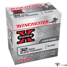 WIN AMMO SUPER-X .32SW BLACK POWDER BLANKS 50-PACK
