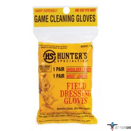 HS FIELD DRESSING GLOVES SHOULDER&WRIST LENGTH 1PR EA