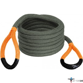 "BUBBA ROPE RENEGADE 3/4""X30' JEEP STRETCH ROPE ORANGE EYES"