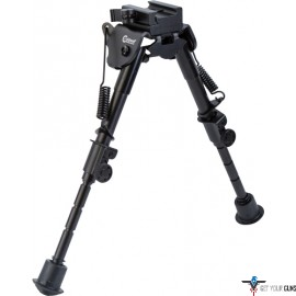 "CALDWELL BIPOD XLA 6-9"" FIXED MODEL PICATINNY MOUNT BLACK"
