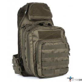 RED ROCK RECON SLING BAG OD TEAR AWAY FEATURE MAIN COMPART