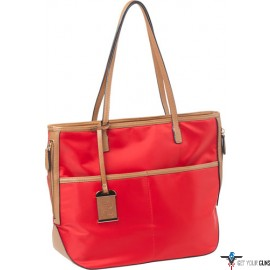 BULLDOG CONCEALED CARRY PURSE TOTE STYLE NYLON BRIGHT RED