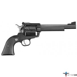 "RUGER BLACKHAWK .357MAG 6.5"" AS BLUED BLACK CHECKERED SYN"