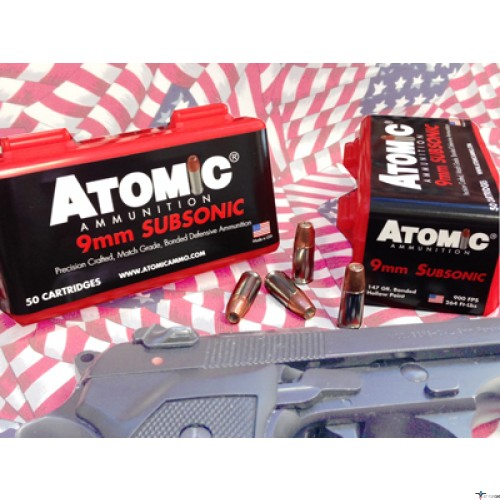 Atomic Ammunition | ATOMIC AMMO 9MM LUGER SUBSONIC 147GR