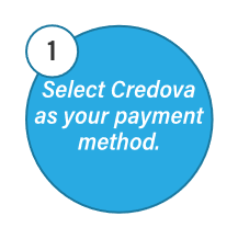 Select Credova as your payment method